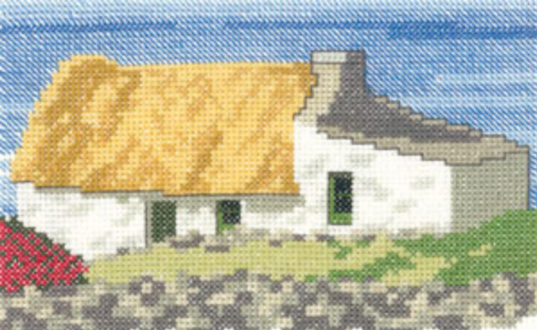 Irish Cottage Cross Stitch Kit